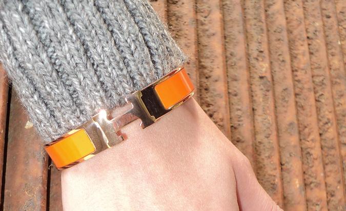 hermes-bracciale-arancione