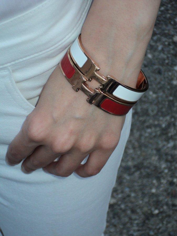 hermes-h-bracciali-rosso-bianco